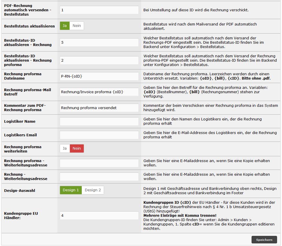 PDF-Rechnung und PDF-Proforma-Rechnung aus dem Shop erstellen und versenden